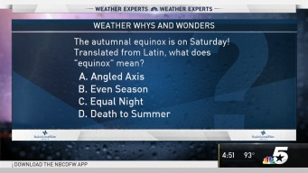Weather Quiz: Fall Equinox