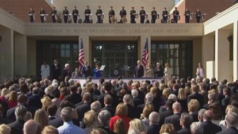 Hundreds Turn Out for Bush Center Dedication