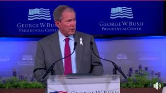 George W. Bush Opens Leadership Forum at Bush Center, Discusses Mother's Death