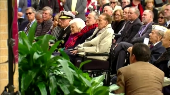 WWII Vets George H.W. Bush, Bob Dole at Pearl Harbor Event