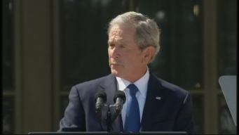 George W. Bush at Bush Library