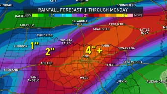 More Than Three Inches of Rain Falls Across North Texas