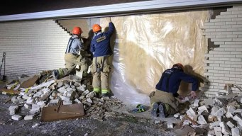 Firefighters Help Repair Church after Driver Hits Wall