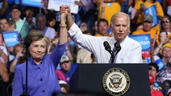 Clinton Rallies in Scranton, Pennsylvania, with Biden
