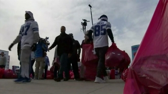 Cowboys Rookies Load Salvation Army Angel Tree Gifts