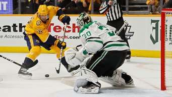 Predators Beat Stars in OT, Even Series 1-1