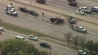 Raw Video: Crash Closes Central Expressway in Plano