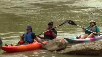 Teachers Kayak the Trinity River for Hands-On Learning