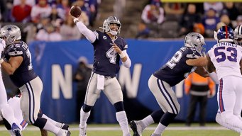 Prescott Throws for 3 TDs as Cowboys Beat Giants Again