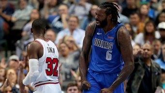Jordan Gets Another Double-Double as Mavs Top Bulls