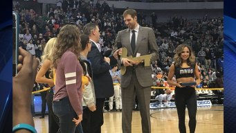 Dirk Nowitzki Presented With Key to the City of Dallas