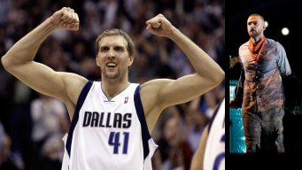 Dirk Takes Stage With Timberlake in Dallas