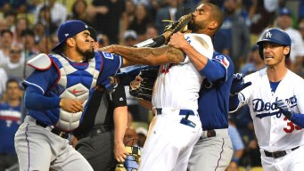 MLB Suspends Rangers C Chirinos, Dodgers OF Kemp for Scuffle