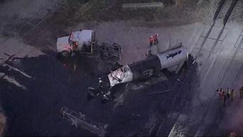 Semi-Truck and Train Crash; 6 People Injured