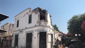 RAW: Damage From Earthquake in Greece
