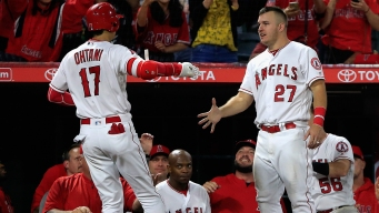 Late Homer Sends Angels to Sweep of Rangers
