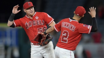 Calhoun, Trout Lead Halos Past Rangers