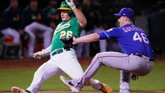 A's Rout Rangers, Maintain 2-Game Wild Card Lead