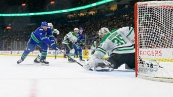 Seguin Leads Stars to Win Over Canucks