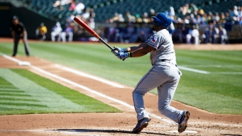 Andrus' Two Homers Power Rangers Past A's