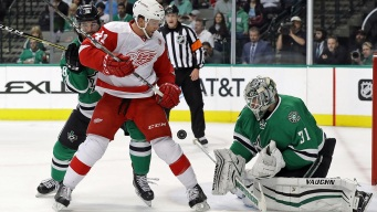 Klingberg, Johns Rally Stars Past Red Wings 5-2