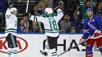Stars Hold On for 7-6 Win Over Rangers