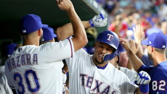 Gomez, Ross Return and Lead Rangers to 10-4 win
