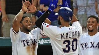 Gomez Homers Twice, Texas Wins 11-4 for Split With Blue Jays