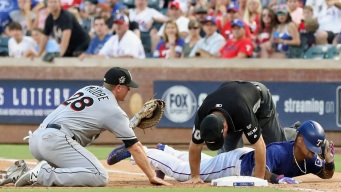 Beltre Records Four More Hits in Rangers' 4-0 Loss to Miami