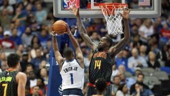 Hawks Spoil Smith's Debut, Top Mavericks 117-111