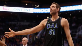 Ferrell, Nowitzki Lead Mavericks to Win Over Nuggets