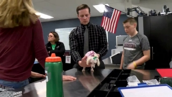 High School Students Help Puppy