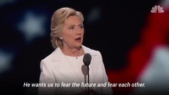 Hillary Clinton Quotes Roosevelt's Fear Speech