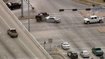 Houston Chase Ends in Crash at Intersection