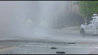 Water Main Break Causes Geyser in Illinois
