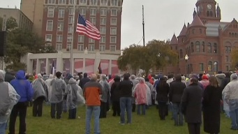 Dignified Rememberence of JFK Despite Weather