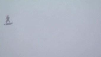 Man Seen Kite Surfing in the Atlantic During Hurricane Jose