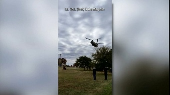 Landing of National Guard Helicopter Injures One