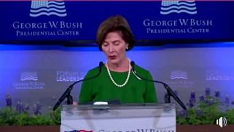 Laura Bush Opens Bush Center's Forum on Leadership