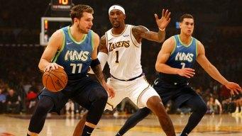 Luka Gets 27, Mavs Snap Lakers' 10-Game Win Streak