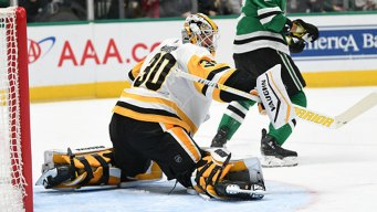 Murray Stops 25 Shots, Pens Score Late to Beat Stars