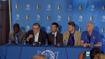 Mavs Introduce Draft Picks Luka Doncic and Jalen Brunson