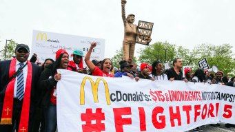McDonald's Shuts Down HQ Amid Protests Over Wages