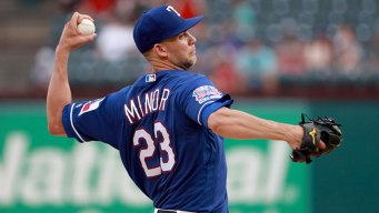 Minor 11 Ks, Rangers 5 Homers in Win Over Mariners
