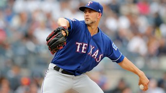 Yanks' Streak Without Shutout Ended at 220 by Minor, Rangers