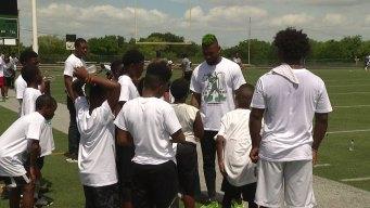 DeSoto Grad Jalen Mills Holds Football Camp