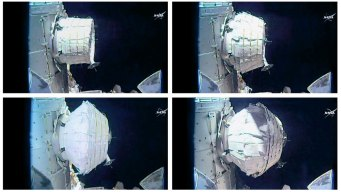 NASA Inflates Expandable Room in Space Station