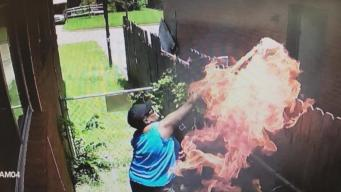 Arsonist Foiled By Her Own Cameras
