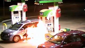 Video Shows Man Spray Gasoline, Set Self on Fire