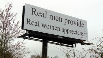 'Real Men' Billboard Triggers Protest